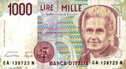 BILLET ITALIE 1000 LIRE - Italie