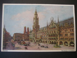 AK Deutschland- München, Marienplatz Mit Rathaus - Muenchen