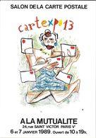 BOURSE SALON DE COLLECTIONS CARTEXPO 13 1989 ILLUSTRATEUR MOSNER - Bourses & Salons De Collections