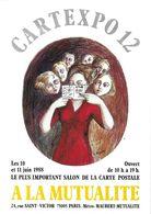 BOURSE SALON DE COLLECTIONS CARTEXPO 12 1988 ILLUSTRATEUR TOPOR - Bourses & Salons De Collections