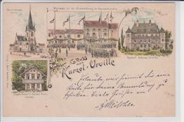 57 GRUSS AUS KURZEL URVILLE   COURCELLE CHAUSSY - Frankreich