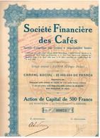 Ancienne Action Congolaise- Société Financière Des Cafés - Titre De 1929 - - Afrique