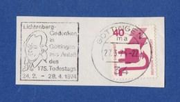 MWSt - Göttingen, Lichtenberg-Gedanken In Göttingen Aus Anlaß Des 175. Todestags - 1974 - BRD