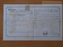 ZA174.8  Old Document - Slovakia  Körmöczbánya, Kremnica, - Francisca (1860)  - Paulus Miklós- Susana Jakobitzky 1887 - Naissance & Baptême