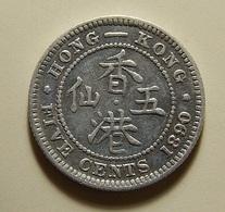 Hong Kong 5 Cents 1890 Silver - Hong Kong