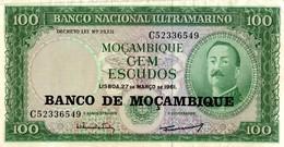 BILLET MOZAMBIQUE DE 100 ESCUDOS - Mozambique