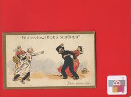 FIL A COUDRE JULIUS SCHURER Schürer CHROMO CALENDRIER COMPLET 1894 Blanc Noir Charbonnier Cuisinier CHAMPENOIS - Calendars