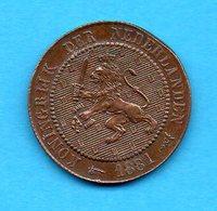 PAYS-BAS - Pièce 2 1,2 Cent - 1881 - Koningrijk - Nederlanden - [ 3] 1815-… : Kingdom Of The Netherlands