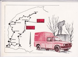 Nederland - 11 Steden Poststempelkaart 14e Elfstedentocht - 26 Februari 1986 - Pays-Bas
