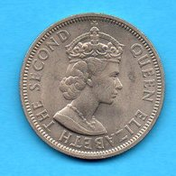 MALAYA AND BRITISH BORNEO - Pièce 50 CENTS - 1961 -  Queen Elisabeth The Second - Malaysie