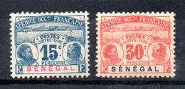 Sénégal  Senegal  Portomarken Y&T T 6*, T 8* - Senegal (1887-1944)