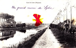 Canal De LEERS (Belgique) - Carte Circulée En 1904 - Estaimpuis