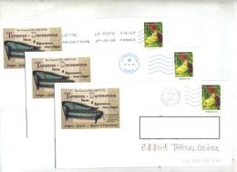 Pap Sabot De Venus Illustré Tapissier Siege Theme Fauteuil 3 Obliterations - Postal Stamped Stationery