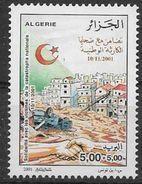 2001 ALGERIE 1301** Solidarité, Torrent De Boue, Croissant Rouge - Algérie (1962-...)