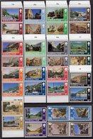 GIBRALTAR - 1971 DEFINITIVE SET IN VERTICAL PAIRS COMPLETE (32V) SUPERB MNH ** SG255a-285a - Gibraltar