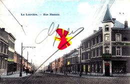 LA LOUVIERE - Rue Hamoir - Carte Colorée Et Circulée En 1903 - La Louviere