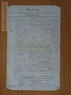 ZA174.12  Old Document   Auszug - DÜSSELDORF - Karl DANERS -   1887 - Faire-part