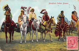 Thème. Indiens .         Canada. Blackfoot Indian Braves    (voir Scan) - Amérique