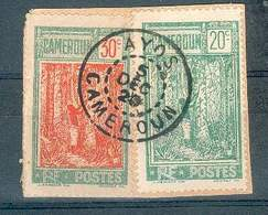 CAMEROUN N°113 + 115 Sur Fragment OB AYOS 5/12/1926 (?) BUREAU RARE TB - Cameroun (1915-1959)