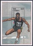 Gambia 1995 Sport Spiele Olympia Olympics Atlanta Medaillen Leichtathletik Athletics Hürdenlauf Edwin Moses, Bl. 262 ** - Gambia (1965-...)