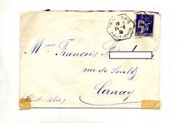 Lettre Cachet Rural Trois Epis Sur Paix - Marcophilie (Lettres)
