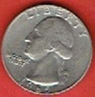 """UNITED STATES  # ¼ Dollar """"Washington Quarter""""  FROM 1965 - Federal Issues"""