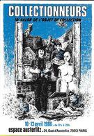 BOURSE SALON DE COLLECTIONS 10 SALON COLLECTIONNEURS 1986 PARIS ESPACE AUSTERLITZ  ILLUSTRATEUR Y. MOURE - Bourses & Salons De Collections