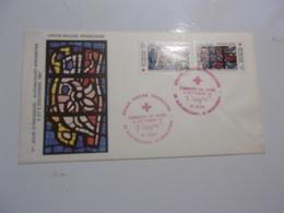 FRANCE (1981) CROIX ROUGE Vitrail église D'audincourt Oeuvre De Léger - FDC