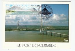 Carte Maximum LE HAVRE -Pont De Normandie - Oblit. Spéciale Illustrée - 1990-99
