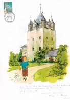 TINTIN - KUIFJE : Très Beau Document Belge édité Lors De La Vente Anticipée De Tintin Et La Lune. Texte Imprimé. 2004. - Comics