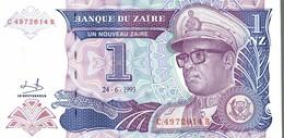 BILLET ZAIRE 1 NZ DE 1993 - Zaïre