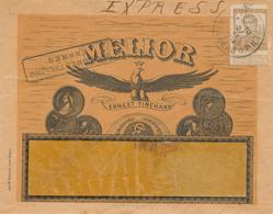 417/28 -- BELGIQUE TABAC - Lettre EXPRES Illustrée ANTWERPEN 1914 - Ernest Tinchant , Cigares + VIGNETTE Cigarettes - Agriculture