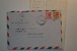 STORIA POSTALE ITALIA REPUBBLICA LETTERA DA TRIESTE PER GERUSALEMME - 6. 1946-.. Republic