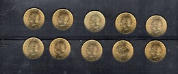 RedG - REPUBBLICA , 20 Lire Del 1973 : Dieci Pezzi - 20 Lire