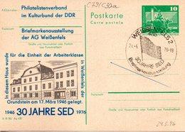 "DDR Amtl.Ganzsache M.priv.Zudruck""Neptunbrunnen,10Pf.grün"" P79/C30a ""30 Jahre SED"" SSt 24.5.76 WEISSENFELS 2 - [6] République Démocratique"