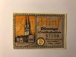 Allemagne Notgeld Stendal 5 Pfennig - [ 3] 1918-1933 : République De Weimar