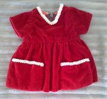 Robe Poupée En Velours Rouge - Dolls