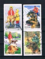 Schweden 2001 Hunde Mi.Nr. 2217/20 Kpl. Satz Gest. - Schweden