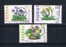 Schweden 2003 Blumen Mi.Nr. 2350/52 Kpl. Satz Gest. - Schweden