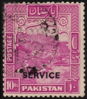 ~~~  Pakistan 1948 (1951) - Small Overprint SERVICE Perf 12 - Mi.  27 C (o) CV 75 Euro  ~~~ - Pakistan