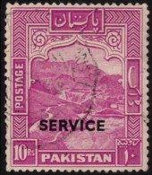~~~  Pakistan 1948 (1954) - Small Overprint SERVICE Perf 13 ! - Mi.  27 D (o) CV 85 Euro  ~~~ - Pakistan