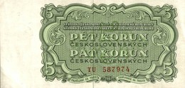 BILLET TCHECOSLOVAQUIE 5 DE 1961 - Tchécoslovaquie