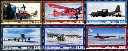 ROSS Dependency 2018 - Avions Et Hélicoptères, Antarctique - 6 Val Neufs // Mnh - Dépendance De Ross (Nouvelle Zélande)