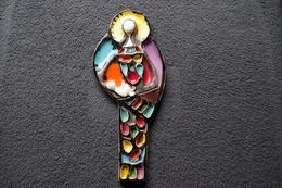 5/ Grande Vierge à L'enfant Mural 33 Cm Années 50 Valauris ? Faience Pas De Marquage 3 égrenures Minimes - Vallauris (FRA)