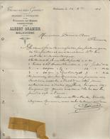 MALAUCENE ALBERT GRANIER DRAPERIES NOUVEAUTES CONFECTIONS TISSUS EN TOUS GENRE ECHANTILLON DE TISSUS EPINGLERANNEE 1904 - Autres