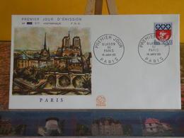 Blason De Paris Et Paris - Paris - 16.1.1965 FDC 1er Jour N°517 - Coté 3,50€ - 1960-1969