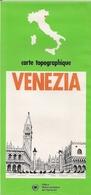 VENISE (VENEZIA) - CARTE TOPOGRAPHIQUE - OFFICE NATIONAL ITALIEN  DE TOURISME. - Cartes Topographiques