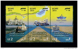 EGYPT / 2014 / THE NEW SUEZ CANAL / SHIPS / MNH / VF - Unused Stamps