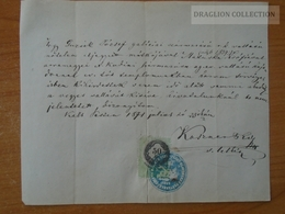ZA176.4  Old Document Hungary  Pest  1871 - GUZSIK József (Galicia) - MATUSKA  Zsófia (1839 Dolní Kubin) - Annunci Di Nozze