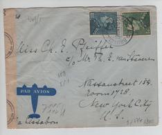 PR6267/ TP 430-433 Poortman S/L.Avion C.BXL 27/11/1941derniers Jours Possible Censure 'b' V.USA - WW II